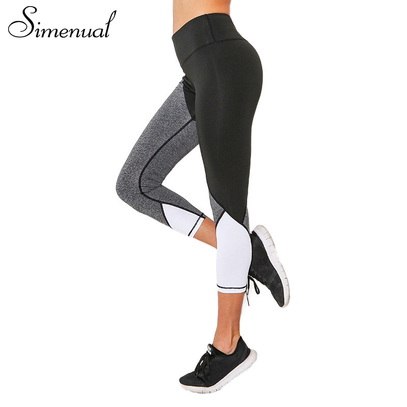 Simenual Patchwork harajuku cropped legging sportswear fitness clothes for women bodybuilding jeggings leggings female pants hot