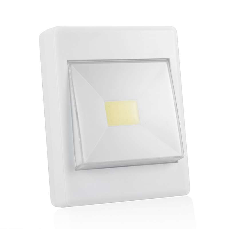 LED Night Light Mini COB Ultra Bright Wireless Wall Lights Lamp Camping Operated with Switch for Garage Closet cob led wall lamp rotary switch night light adjustable wireless closet cordless lamp battery operated wardrobe light