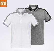 Xiaomiファッションシャツ男性機能ステッチポロ半袖カジュアル通気性ラペル服