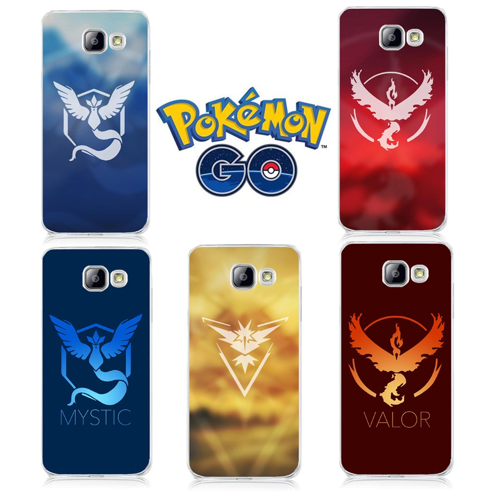 Mobile Game Pokemons Go Pokeball Team Valor Mystic Instinct Cases For Samsung Galaxy A3 A5 A7 J5 J7 S4 S5 S6 S7 Edge Cover