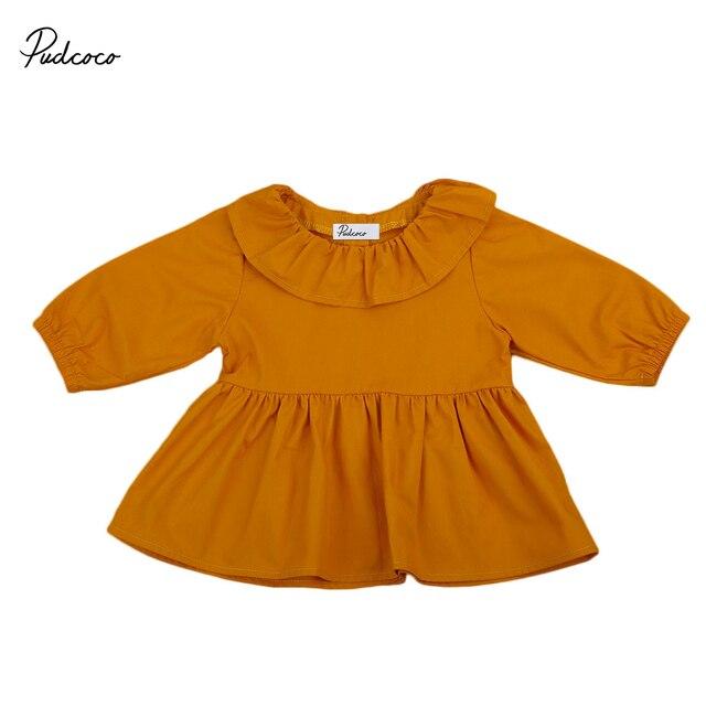 bd3577b6a22 Pudcoco 0-24 M Nouveau-Né ENFANTS bébé fille manches longues solide couleur  Mini