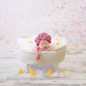 Photographie pour nouveau-né bébé | Accessoires de baignoire blanche, panier de Photo pour bébé, bain à bulles, accessoires de canard jaune pour bébé, accessoires fotografia