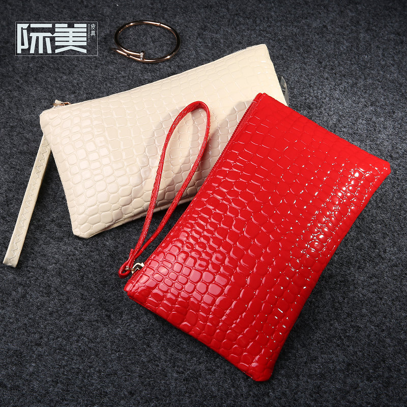 Fashion Crocodile Pattern Handbag Ladies Change Wallet Mobile Phone Bag Women Purse Female 12 colors sac a main