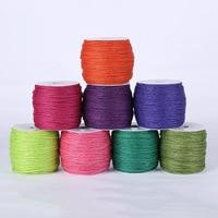 8 Colors 2mm 100m Spool Linen Cord Elastic String Strap Bracelet Braided String Fit Necklace Bracelet