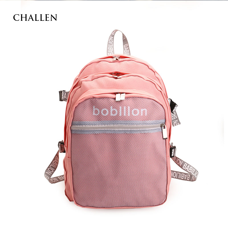 Nylon College Bags Floral Backpacks European and American Style Casual  Fashion Women Bag School Backpack Women School Girl Bag-in Backpacks from  Luggage ... 143031d65af4c