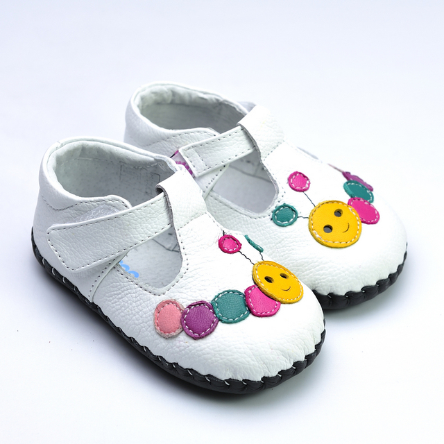 Freycoo spring and autumn genuine leather small soft outsole colorful indoor shoes 1067