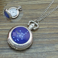 2017 Silver 12 Zodiac Signs Necklace pocket watch For Women Men Birthday Christmas Gift 12 Constellations Fob watches