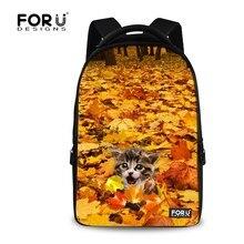 17 дюймов школы рюкзак животных зоопарка печать рюкзак для женщин клен кот девушки рюкзак детей ноутбук рюкзак для подростка