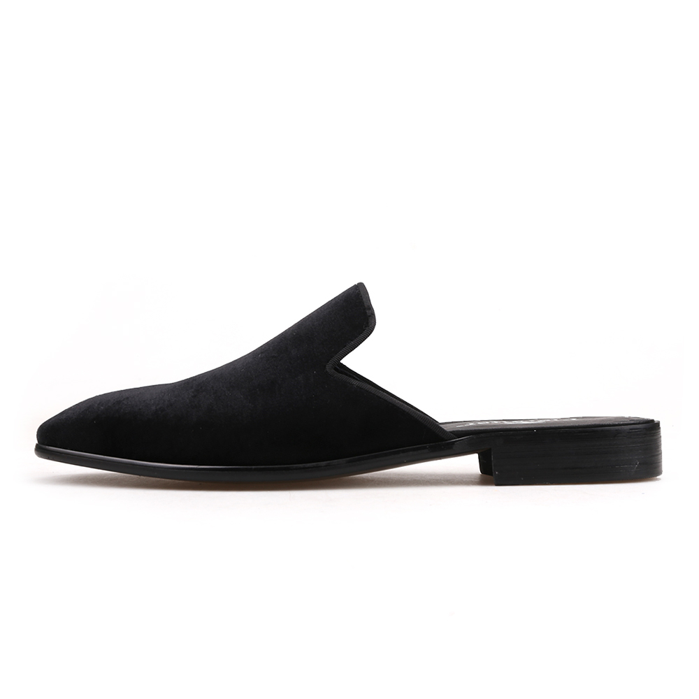 Piergitar new style Handmade men's velvet slippers Fashion party and show men's dress shoes plus sizes male smoking slippers