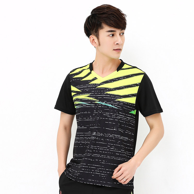 New badminton table tennis suits summer sweat-absorbent and quick-drying breathable tennis clothing mens sportswear free shippi