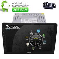 Android 6.0 car radio in dash 10.1 Double 2DIN Car audio head unit car NO DVD player Detachable GPS WIFI 4G 2GB+16GB+Camera