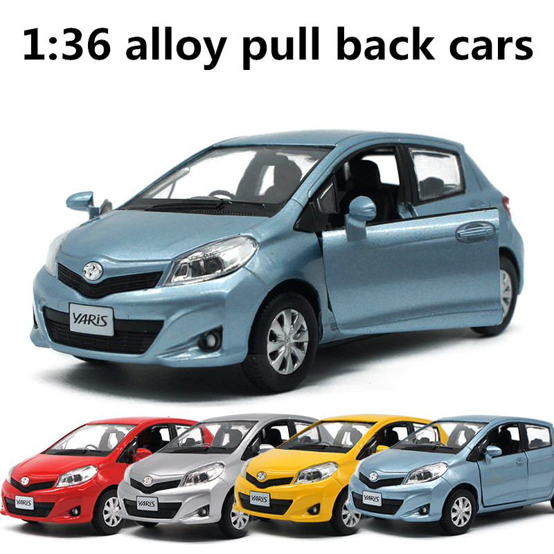 1:36 Alloy Pull Back Cars,high Simulation Toyota Yaris,metal Casting,toy Vehicles,musical & Flashing,free Shipping