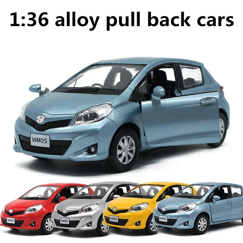 1:36 Alloy Pull Back Cars,high Simulation Toyota Yaris