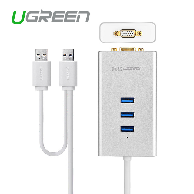 Ugreen USB 3.0 to VGA Video Graphic Adapter 1000 Gigabit Ethernet Display External Cable Converter Hub for Windows XP 7 8 8.1 10
