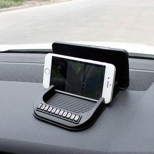 Image 5 - Противоскользящий коврик для приборной панели автомобиля с номером мобильного телефона, силикагелевый автомобильный нескользящий коврик для бумажных полотенец, GPS телефона, автомобильные аксессуары