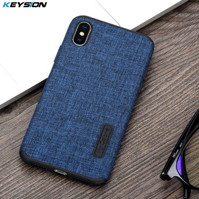 new concept a5590 2c72a US $5.12 40% OFF|KEYSION Case for iPhone X Fashion Linen Cloth and TPU  Silicone soft Anti knock Cover for iPhoneX for iPhone 10 Lanyard shell-in  ...
