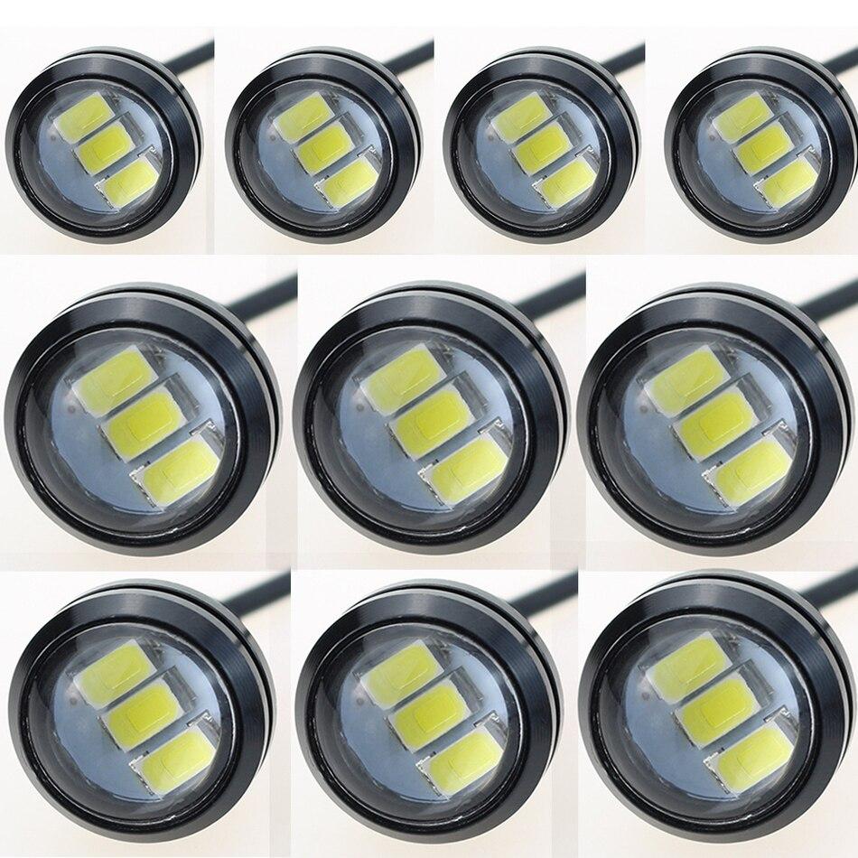 LEADTOPS 10Pcs / Lot Gəliş 10W 12V 5730 LED Qartal Göz 3 SMD LED - Avtomobil işıqları - Fotoqrafiya 2