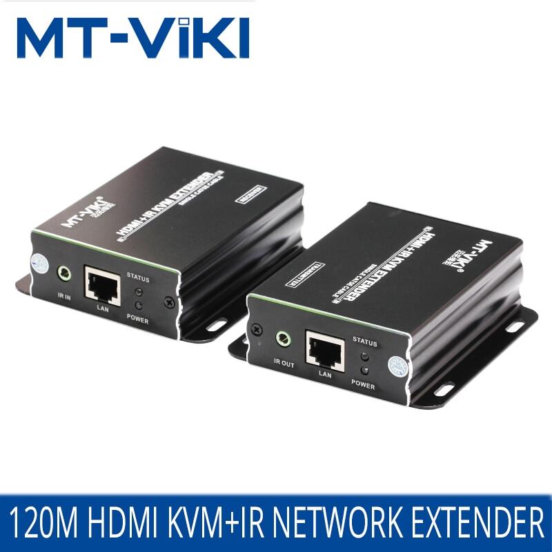 MT VIKI HDMI KVM Extender 120m Repeat HDMI USB over UTP CAT 5e/6 RJ45 LAN cable by 390ft Sender & Receiver One Pair MT 120HK