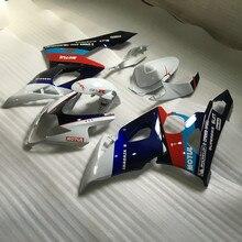 Привет-качество мотоциклетный вставной обтекатель комплект для SUZUKI GSXR1000 K5 05 06 GSXR 1000 2005 2006 ABS белая, голубая обшивка комплект+ подарки SE23