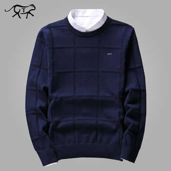 Solid Color Sweaters Men O Neck Pullover Men Long Sleeve Men's Sweater Casual Dress Male Brand Cashmere Check Knitwear Man Pull - DISCOUNT ITEM  42% OFF All Category