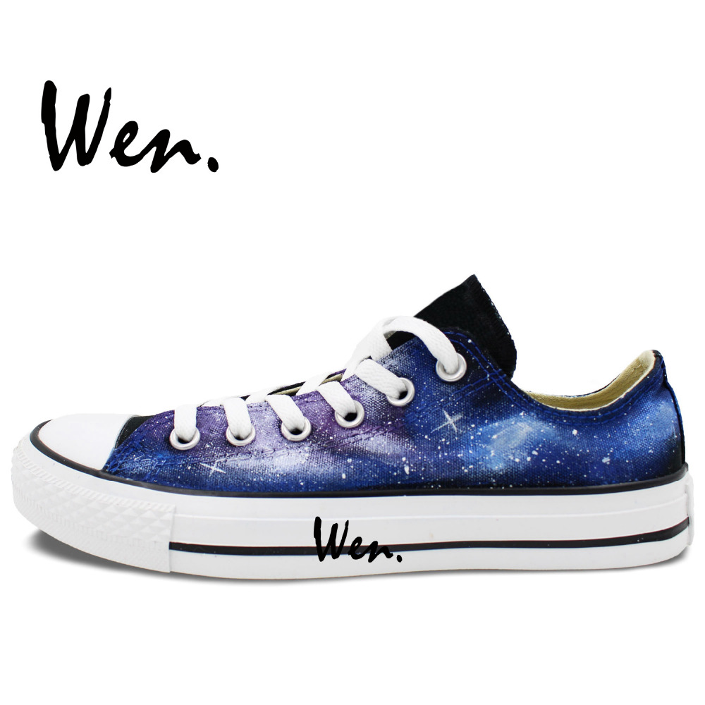 Wen Izvorni ručno oslikane cipele Dizajn Custom Blue Starlight - Tenisice - Foto 2