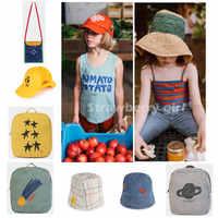 PRE-SALE Bobo TAO2019Summer nowy wiklinowy kapelusz bawełniany T-shirt dla dzieci szkolny plecak dla dzieci chłopcy dziewczęta 1-8Y