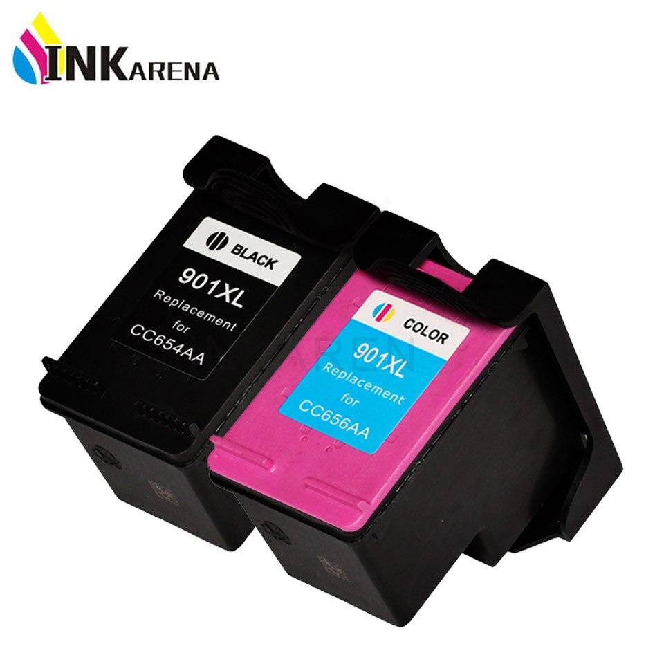 2 STÜCKE Tintenpatrone für HP901 XL Für HP 901 XL Schwarz Farbe...