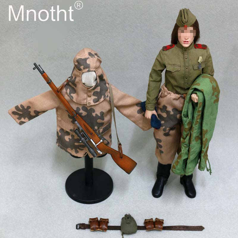 AL100020 1/6 Female Clothes Accessories WWII Woman Soviet Sniper Solider Clothes Set for 12 Action Figure Doll m3n toys 1 6 scale figure doll clothes for 12 action figure doll accessories female sexy dress not include doll and other accessories