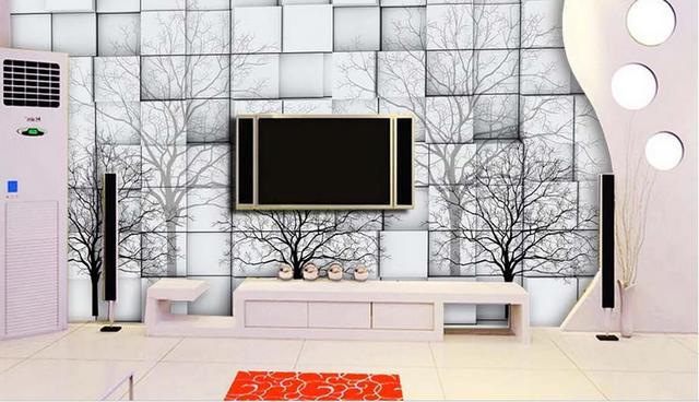 Boom In Woonkamer : Foto wwall muurschildering 3d behang abstracte eenvoudige stijl