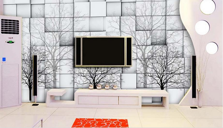 Photo Wwall Mural 3d Wallpaper Abstract Simple style Wall papers Home Decor Background Wall Tree Wallpaper Living Room