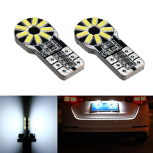 2x T10 3014SMD Error free Bright White LED License Number Plate Light For Opel Adam Corsa C Combo D Astra H