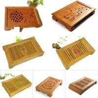 Bamboo Tea Table Hot Sale Kung Fu Tea Set Natural Wood Bamboo Tea Tray Rectangular Traditional