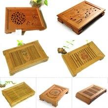 Bambus tee tisch Heißer Verkauf Kung Fu Tee-Set Natürliche Holz bambus Tee-tablett Rechteckig Traditionellen Bambus Puer Tee Tray Hot verkauf
