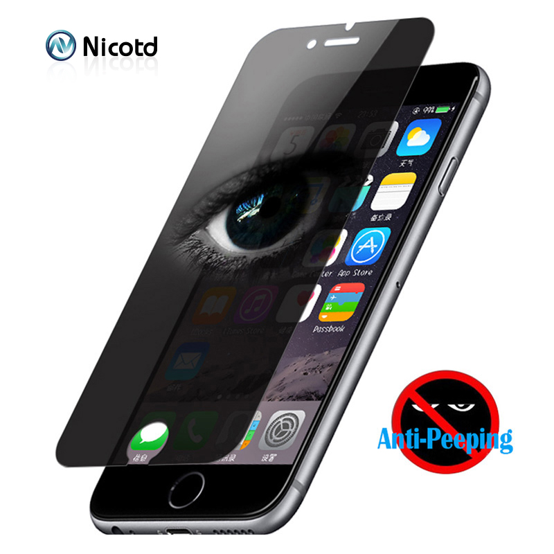 Privacy Tempered Glass For Iphone 8 Plus Screen Protector AntiSpy Anti-shatter Shockproof Glass For Iphone X 6 6s 7 Plus 5 5s SE