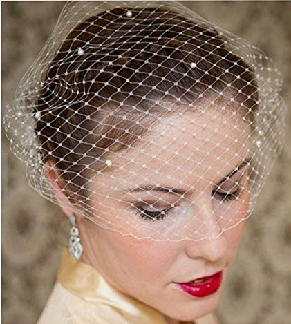 New White Ivory Bridal Net Birdcage Veils Charming Wedding Veil Hats Fascinator Face Veils With Comb UK