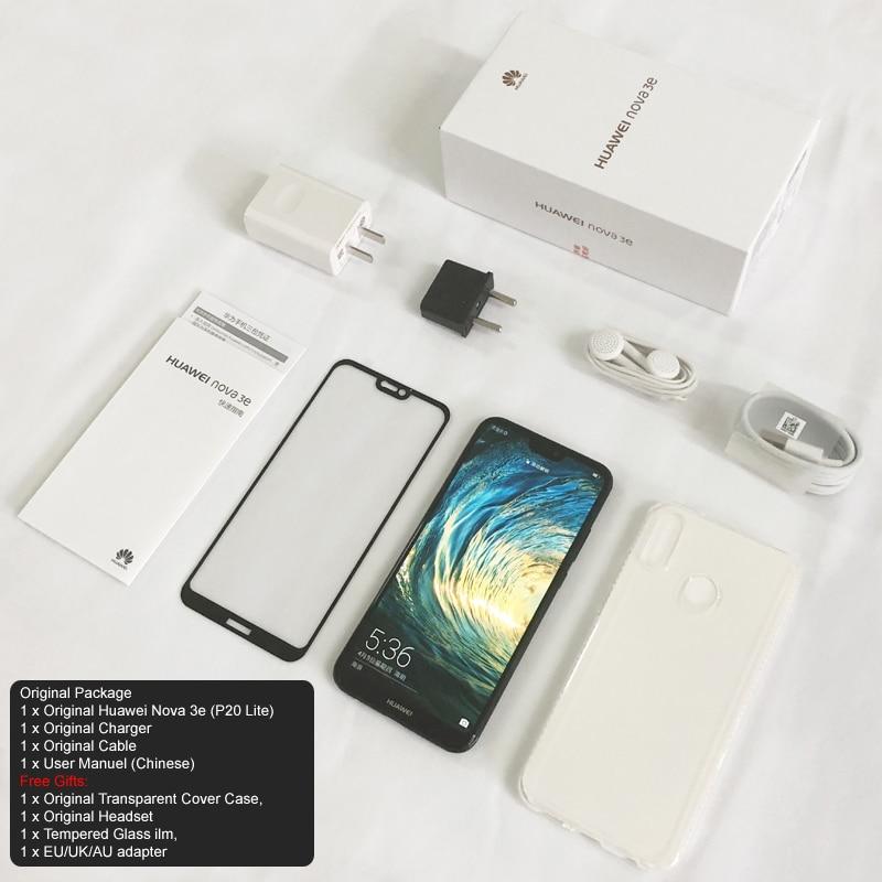 Smartphone Huawei P20 Lite Nova 3e 128GB Mobile phone Face ID 5 84