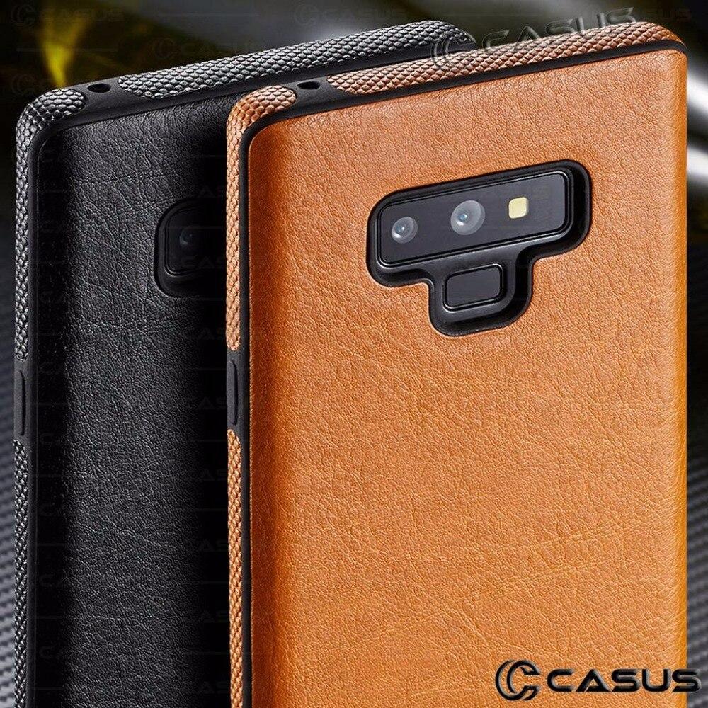 For font b Samsung b font Galaxy Note 9 8 Case Slim Luxury PU Leather Thin