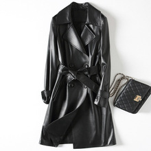 2018 New Fashion Genuine Sheep Leather Trench H37
