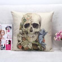 Ángel esqueleto ropa de casa almohada, funda de almohada, textil hogar funda de almohada
