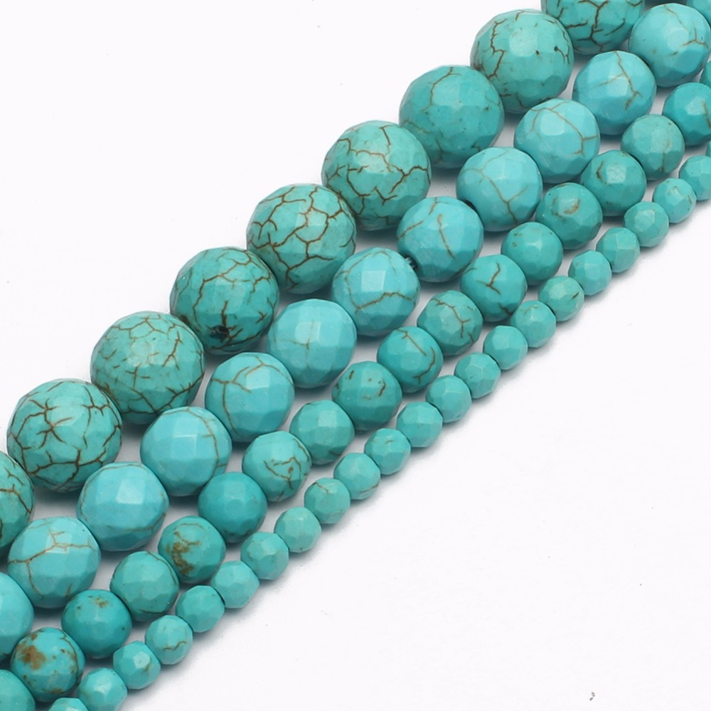 Faceted Blue Turquoises...