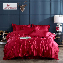 цены на SlowDream Black 100% Silk Luxury Healthy Bedding Set Fitted Sheet Duvet Cover Double Queen King Euro Adult Bedspread Band Sheet  в интернет-магазинах