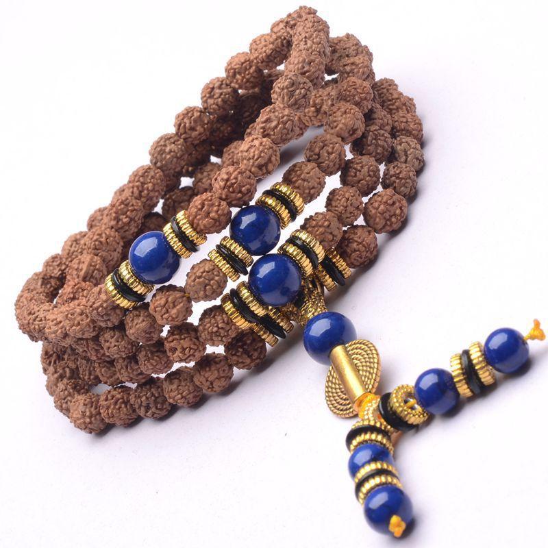 JoursNeige Tibetan KingKong Bodhi Beads 108 Rosary 8mm Round Bracelet Rudraksha Bodhi Seeds Buddha Prayer Japa mala