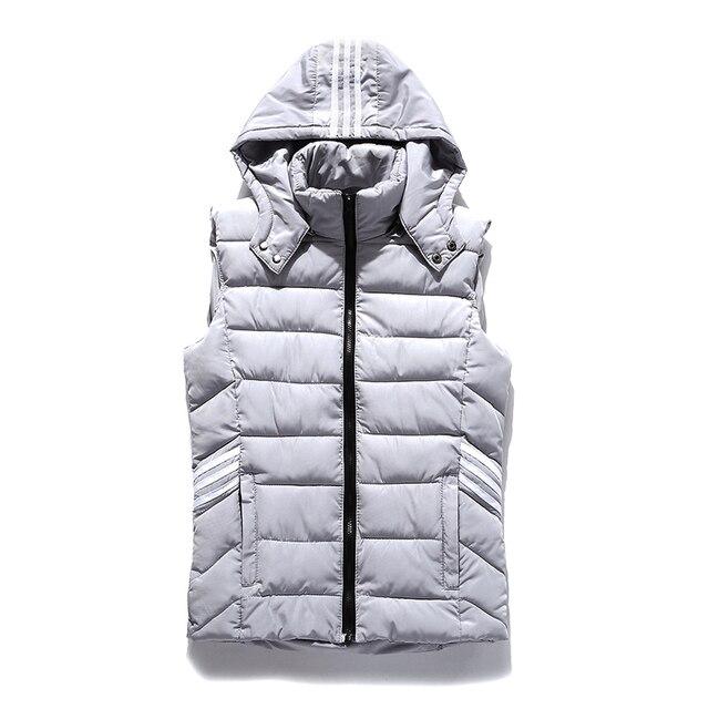 2016 New Arrival Brand Men High Quality Sleeveless Jacket Winter Casual Down Vest  coats Slim Men's Vest Thickening Waistcoat