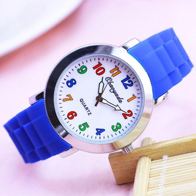 CYD new children boys women men silicone quartz Bracelet watches colorful digita