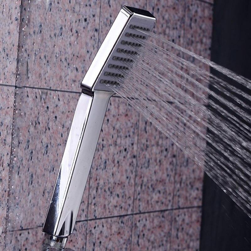 hand shower head nozzle bathroom fixture light showerhead sprayer wall mount rectangle handheld handle spray shower handshower