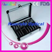 PS18 Ophthalmic Optical Optometry Glass K9 Loose Prism Bars Kit Set Aluminum Case Packed Free Shipping