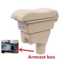 Para nissan sunny/versa caixa de apoio de braço de couro do plutônio central armazenar conteúdo caixa de suporte de copo carro estilo acessórios peças 11 16|Braços| |  -