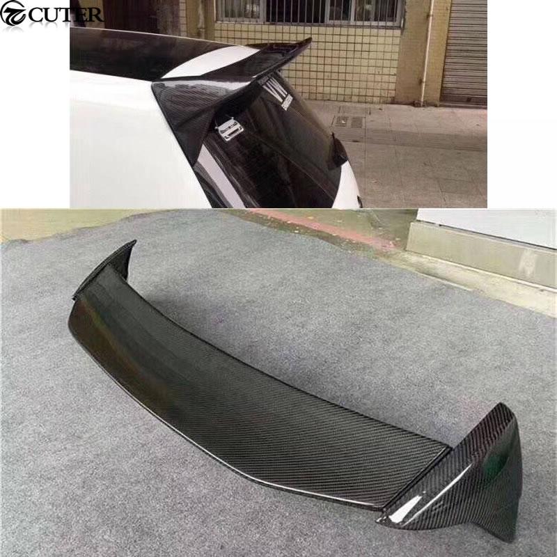 Roof Wing Aspec style Golf 7 MK7 Car Styling Carbon Fiber Rear Spoiler Lip for Volkswagen VW Golf 7 Aspec 2014UP maserati granturismo carbon spoiler