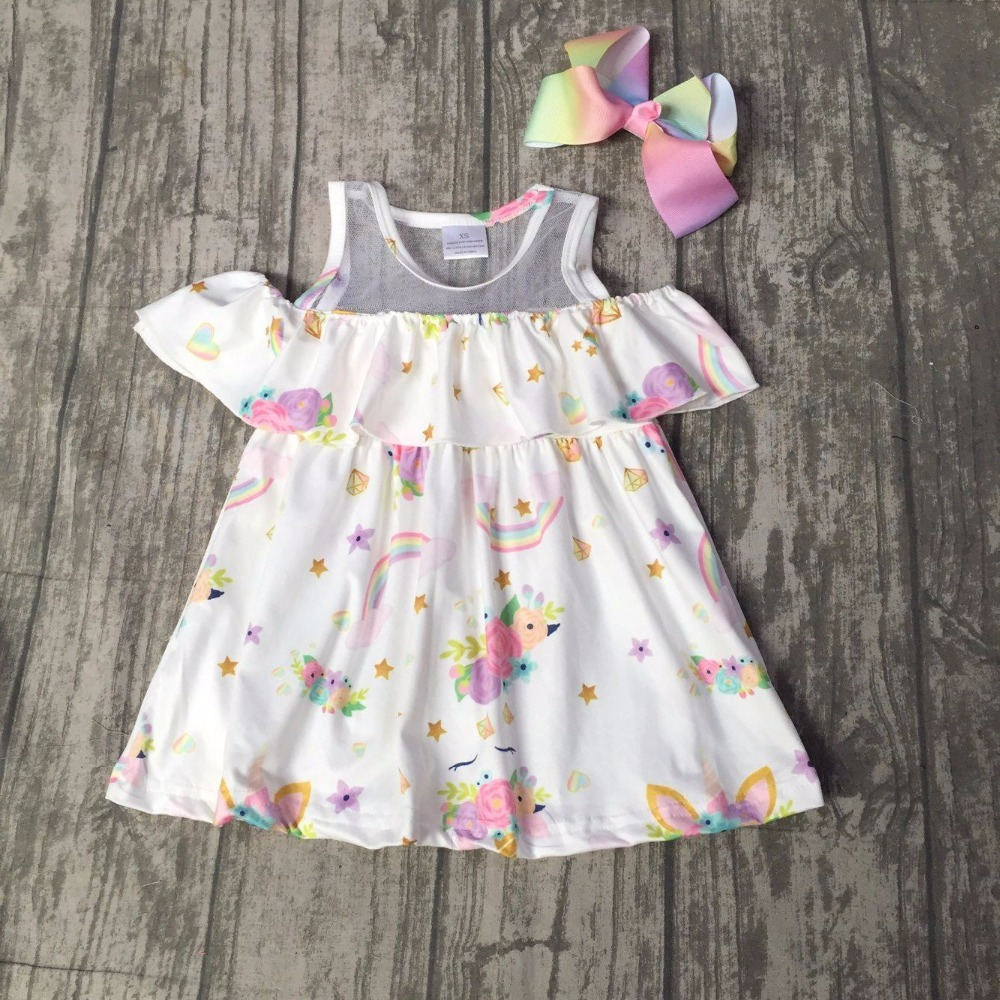 baby girls summer dress clothing girls unicorn floral dress children girls unicorn dress milksilk dress boutique dress with bows