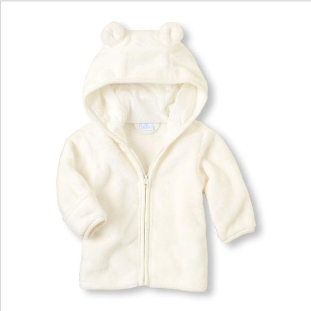 Baby's Velvet Hooded Jackets